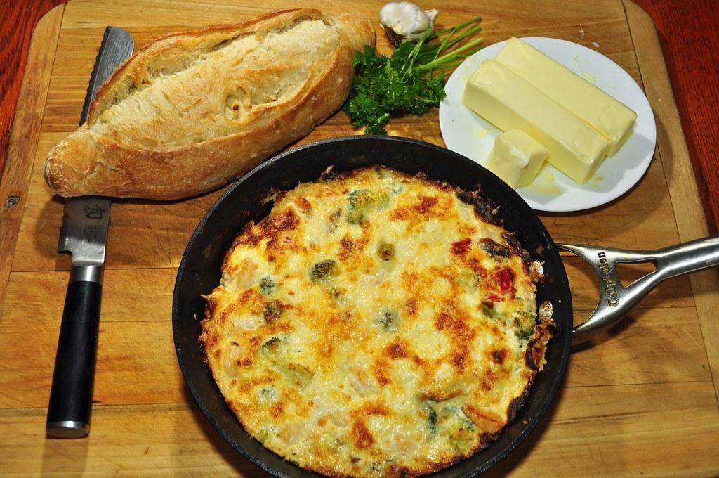 Broccoli Cheese Curd Frittatas